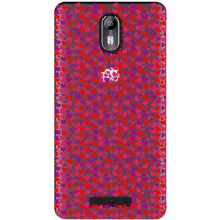 Snooky Printed Color Heart Mobile Back Cover of Micromax Canvas Evok E483 - Multicolour