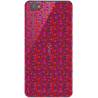 Snooky Printed Color Heart Mobile Back Cover of Vivo X5 Pro - Multicolour