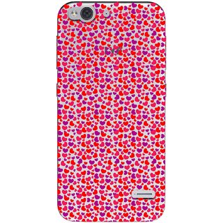 Snooky Printed Color Heart Mobile Back Cover of LYF Water 2 - Multicolour