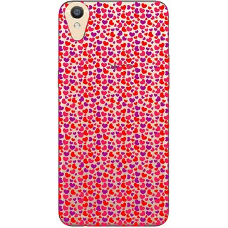 Snooky Printed Color Heart Mobile Back Cover of Oppo F1 Plus - Multicolour