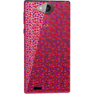 Snooky Printed Color Heart Mobile Back Cover of Xolo Prime - Multicolour