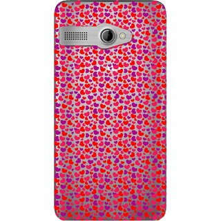 Snooky Printed Color Heart Mobile Back Cover of Intex Aqua 3G Pro - Multicolour