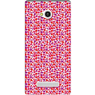Snooky Printed Color Heart Mobile Back Cover of Lava Flair Z1 - Multicolour