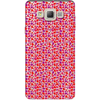 Snooky Printed Color Heart Mobile Back Cover of Samsung Galaxy A7 - Multicolour