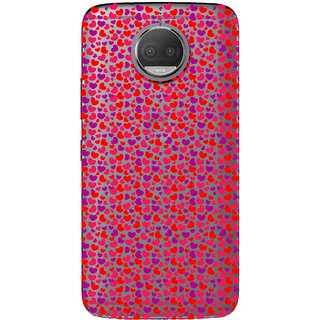 Snooky Printed Color Heart Mobile Back Cover of Moto G5 Plus - Multicolour