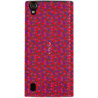 Snooky Printed Color Heart Mobile Back Cover of Vivo Y15 - Multicolour