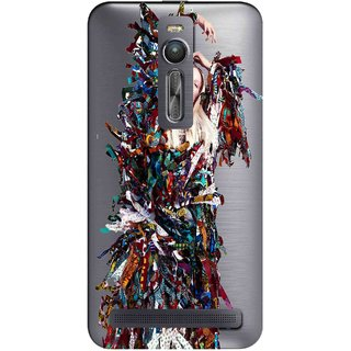 Snooky Printed Colorful Lady Mobile Back Cover of Asus Zenfone 2 - Multicolour