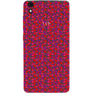 Snooky Printed Color Heart Mobile Back Cover of LYF Water 5 - Multicolour