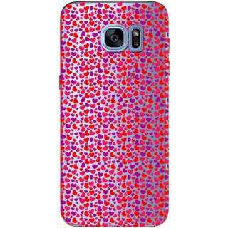 Snooky Printed Color Heart Mobile Back Cover of Samsung Galaxy S7 Edge - Multicolour