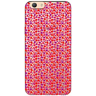 Snooky Printed Color Heart Mobile Back Cover of Oppo F1s - Multicolour