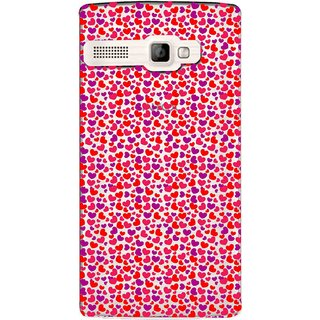 Snooky Printed Color Heart Mobile Back Cover of Intex Aqua 3G Strong - Multicolour