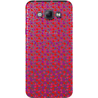 Snooky Printed Color Heart Mobile Back Cover of Samsung Galaxy A8 - Multicolour
