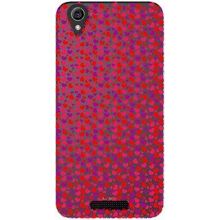 Snooky Printed Color Heart Mobile Back Cover of Lava Iris Atom 3 - Multicolour
