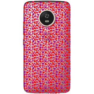 Snooky Printed Color Heart Mobile Back Cover of Moto G5 - Multicolour