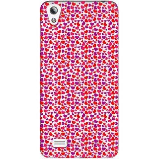 Snooky Printed Color Heart Mobile Back Cover of Vivo Y17 - Multicolour