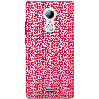 Snooky Printed Color Heart Mobile Back Cover of LYF Water 7 - Multicolour
