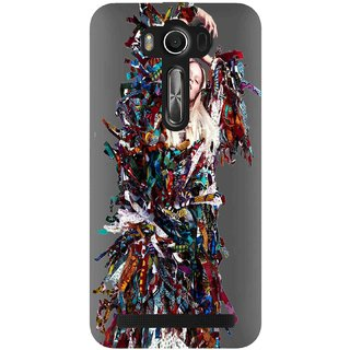 Snooky Printed Colorful Lady Mobile Back Cover of Asus Zenfone ZE550KL - Multicolour