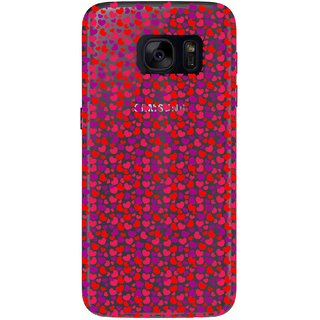 Snooky Printed Color Heart Mobile Back Cover of Samsung Galaxy S7 - Multicolour