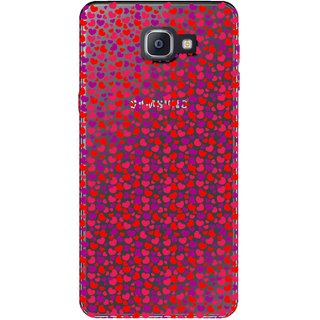 Snooky Printed Color Heart Mobile Back Cover of Samsung Galaxy A9 Pro - Multicolour