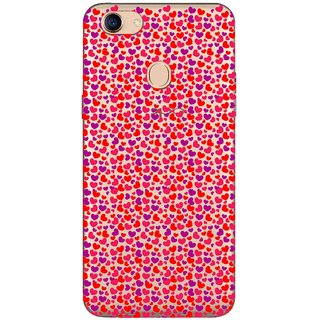 Snooky Printed Color Heart Mobile Back Cover of Oppo F5 - Multicolour