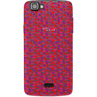 Snooky Printed Color Heart Mobile Back Cover of Xolo Q610s - Multicolour