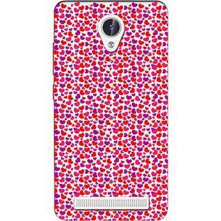 Snooky Printed Color Heart Mobile Back Cover of Lava Iris Fuel F1 - Multicolour