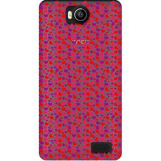 Snooky Printed Color Heart Mobile Back Cover of Intex Aqua 4.5e - Multicolour