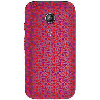 Snooky Printed Color Heart Mobile Back Cover of Motorola Moto E2 - Multicolour