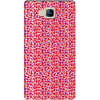 Snooky Printed Color Heart Mobile Back Cover of LYF Wind 2 - Multicolour