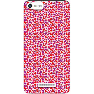 Snooky Printed Color Heart Mobile Back Cover of Micromax Canvas Hue 2 - Multicolour
