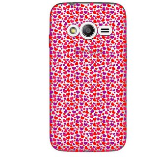 Snooky Printed Color Heart Mobile Back Cover of Samsung Galaxy Ace 4 LTE G313 - Multicolour