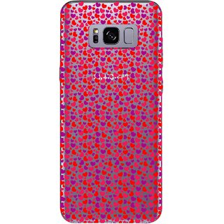 Snooky Printed Color Heart Mobile Back Cover of Samsung Galaxy S8 Plus - Multicolour