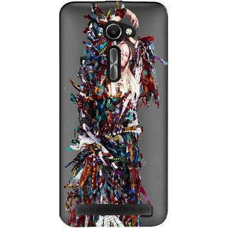 Snooky Printed Colorful Lady Mobile Back Cover of Asus Zenfone 2 Laser ZE500CL - Multicolour