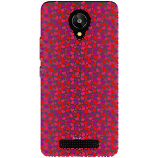 Snooky Printed Color Heart Mobile Back Cover of Lava Iris X1 Selfie - Multicolour