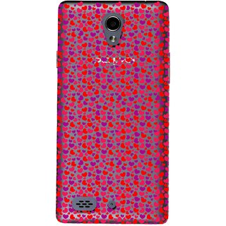 Snooky Printed Color Heart Mobile Back Cover of Oppo Joy 3 - Multicolour