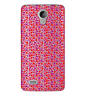 Snooky Printed Color Heart Mobile Back Cover of Vivo Y22 - Multicolour