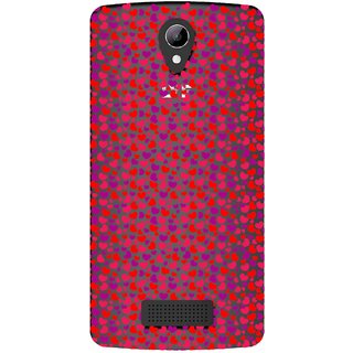 Snooky Printed Color Heart Mobile Back Cover of LYF Wind 3 - Multicolour