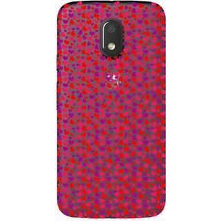 Snooky Printed Color Heart Mobile Back Cover of Motorola Moto E3 Power - Multicolour