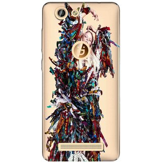 Snooky Printed Colorful Lady Mobile Back Cover of Gionee F103 Pro - Multicolour