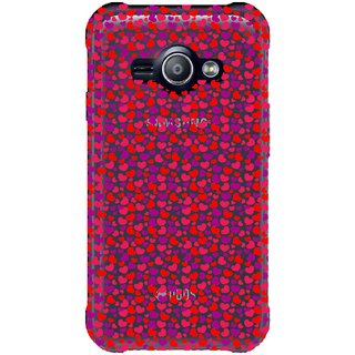 Snooky Printed Color Heart Mobile Back Cover of Samsung Galaxy Ace J1 - Multicolour