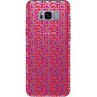 Snooky Printed Color Heart Mobile Back Cover of Samsung Galaxy S8 - Multicolour