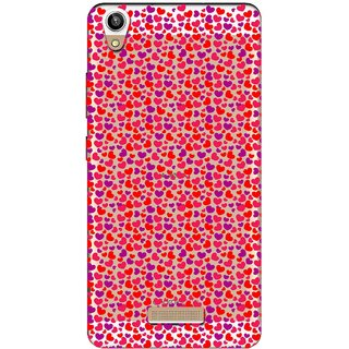Snooky Printed Color Heart Mobile Back Cover of Lava V1 Pixel - Multicolour