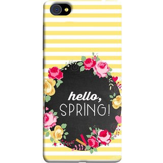 FUSON Designer Back Case Cover For Vivo X5Pro :: Vivo X5 Pro (Flowers Cake White And Yellow Horizontal Strips )