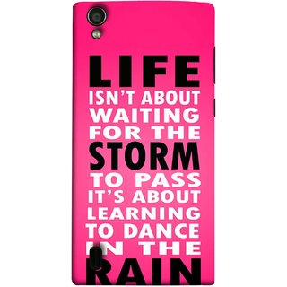 FUSON Designer Back Case Cover For Vivo Y15S :: Vivo Y15 (To Pass Its About Learning To Dance In Rain Life)