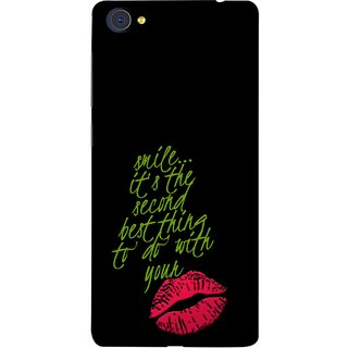 FUSON Designer Back Case Cover For Vivo X7 Plus (To Do With Your Lips Kisses Kiss Lovers Couples)