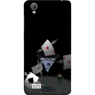 FUSON Designer Back Case Cover For Vivo Y31 :: Vivo Y31L (Drink Wings To Cards Ice Party Time Friends Game )