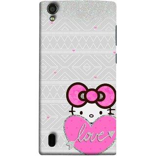 FUSON Designer Back Case Cover For Vivo Y15S :: Vivo Y15 (Silver Background Pink Red Love Bird Lovers Couples )