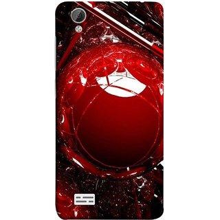 FUSON Designer Back Case Cover For Vivo Y31 :: Vivo Y31L (Bold Red Design 3D Rendering Of Modern Abstract)