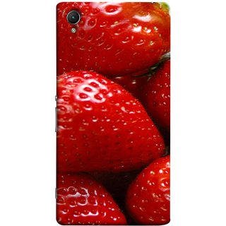FUSON Designer Back Case Cover For Sony Xperia Z1 :: Sony Xperia Z1 L39h :: Sony Xperia Z1 C6902/L39h :: Sony Xperia Z1 C6903 :: Sony Xperia Z1 C6906 :: Sony Xperia Z1 C6943  (Best Fresh Strawberry Ice Cream Homemade Recipes)