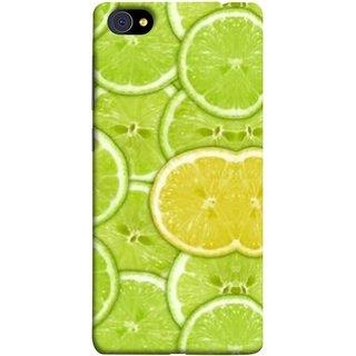 FUSON Designer Back Case Cover For Vivo X7 Plus (Lemon Lime Sweet Agriculture Farm Fresh Cut Cell)